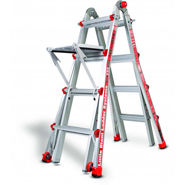 17 Little Giant Ladder 250 Lb With Work Platform New Ebay