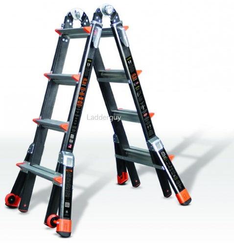 17 1a Fiberglass Little Giant Dark Horse Ladder 15147 Ebay