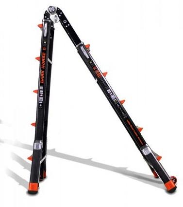22 1a Fiberglass Little Giant Dark Horse Ladder W Platform