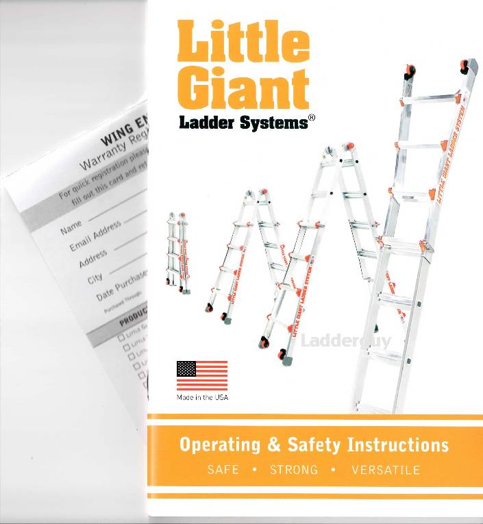 little giant ladder operating safety instruction booklet owners rh ebay com giant propel owners manual giant bicycle owner manual version 10.0