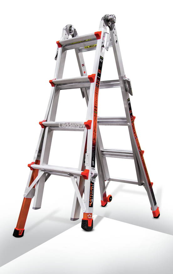 17 1a Revolution Little Giant Ladder With Ratchet Levelers 12017 801