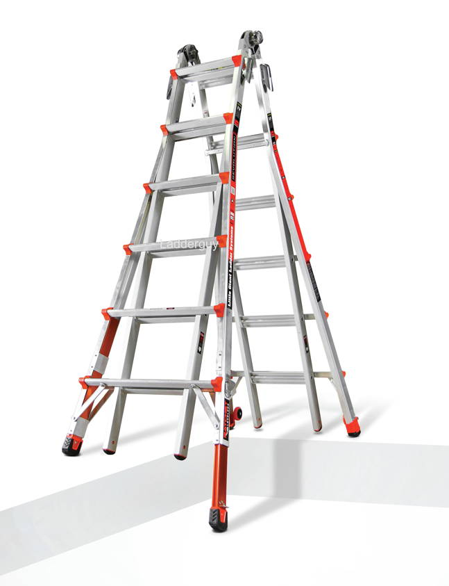 26 1a Revolution Little Giant Ladder With Ratchet Levelers 12026 801